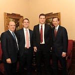 Keith Shapiro, Editor-in-Chief Steve Ferketic, rising Editor-in-Chief Alex Clamon, and Dean Robert Schapiro